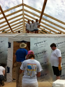EYC members help build a house in Pratt City