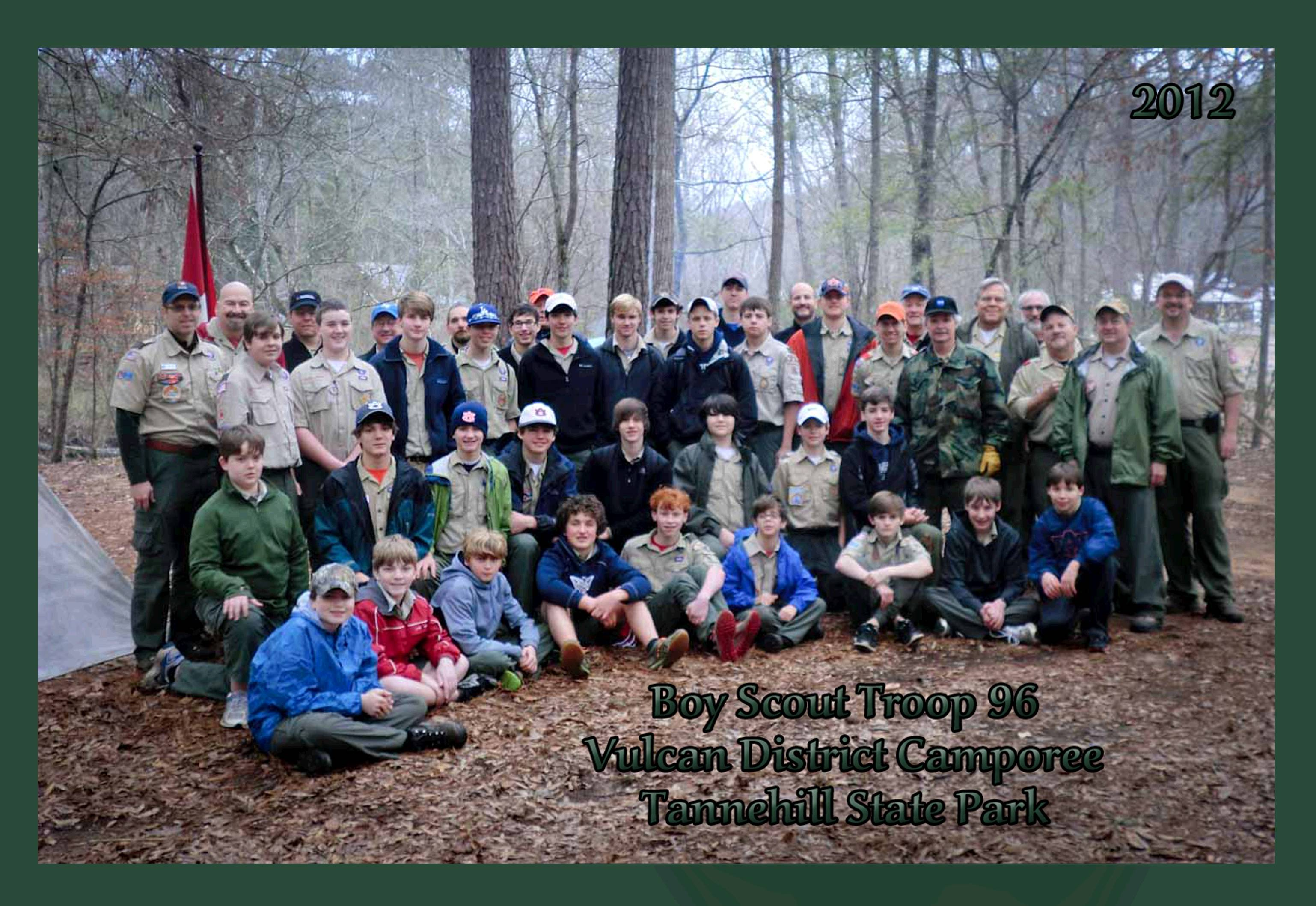 Scouts and Leaders of Troop 96 at Camporee